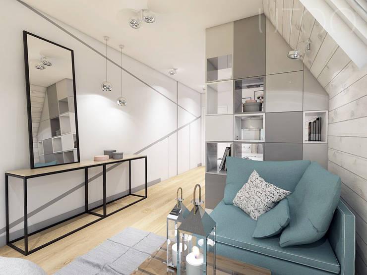 Pokój wypoczynkowy: styl , w kategorii Sypialnia zaprojektowany przez UTOO-Pracownia Architektury Wnętrz i Krajobrazu,Skandynawski