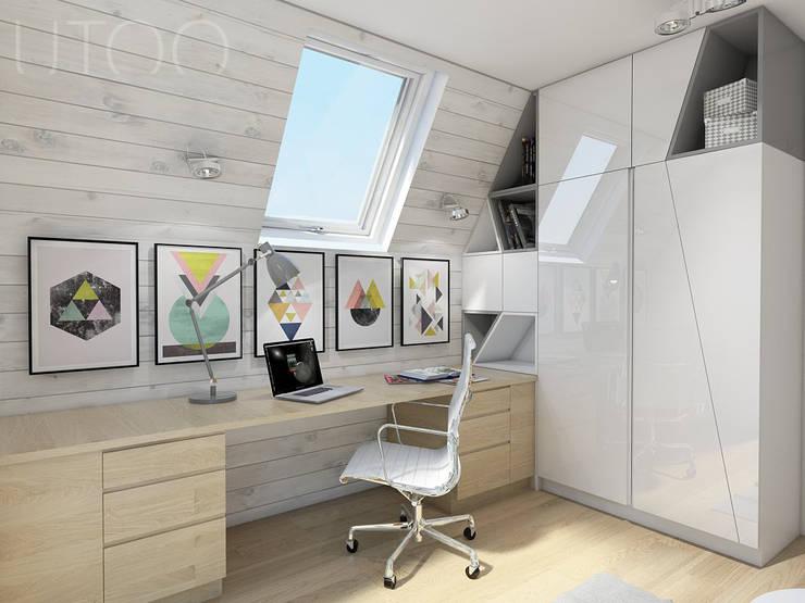 skandinavische Arbeitszimmer von UTOO-Pracownia Architektury Wnętrz i Krajobrazu
