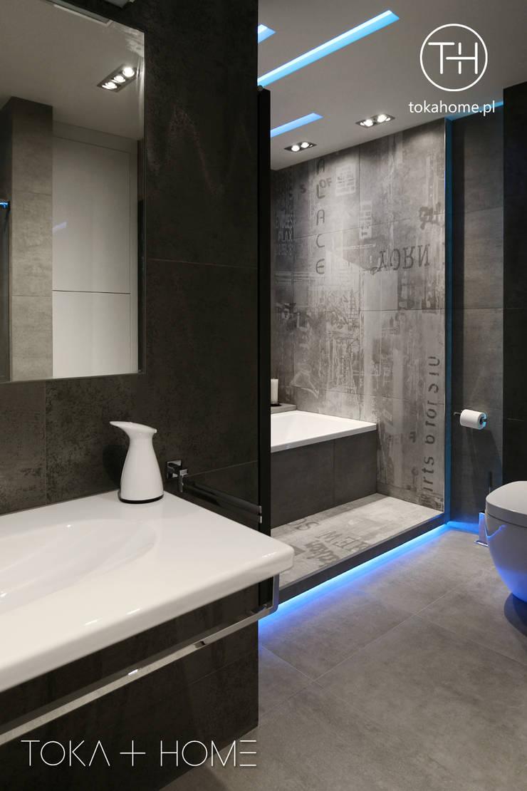 łazienka beton: styl , w kategorii Łazienka zaprojektowany przez TOKA + HOME