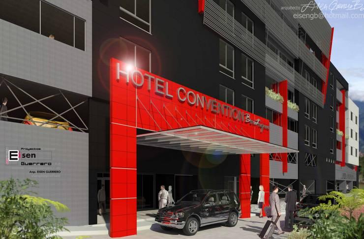 Hotel Covention Suites. 2013: Casas de estilo  por Eisen Arquitecto