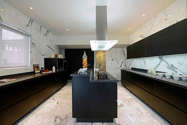 THE RIDGES—A3 VILLA:  Kitchen by Aijaz Hakim Architect [AHA],Modern