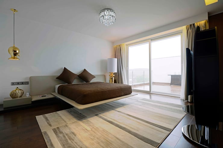 THE RIDGES - A3 VILLA: modern Bedroom by Aijaz Hakim Architect [AHA]