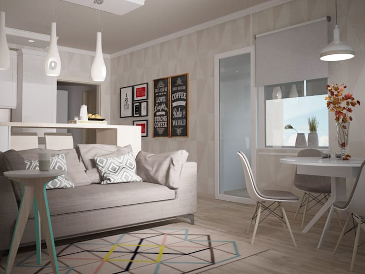 Living room by Yana Ikrina Design