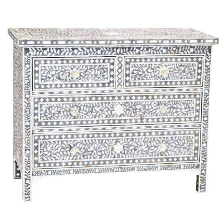 Bone Inlay Chest:  Living room by Prakash Handicraft