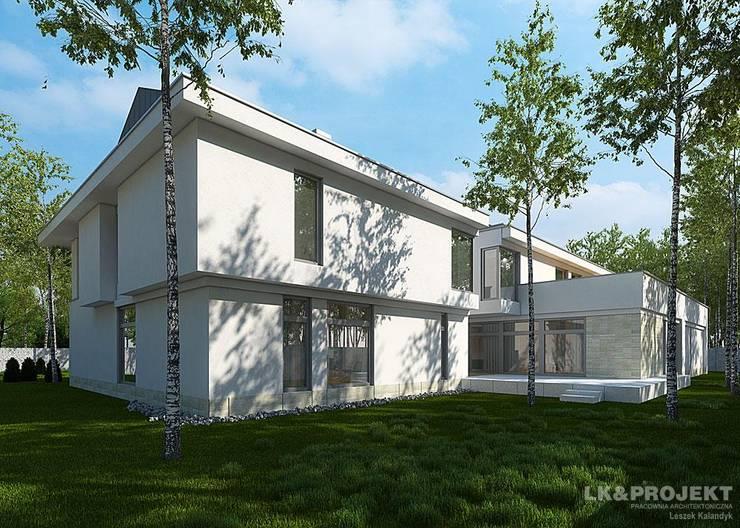 LK&1048 projekt domu jednorodzinnego: styl , w kategorii Domy zaprojektowany przez LK & Projekt Sp. z o.o.,