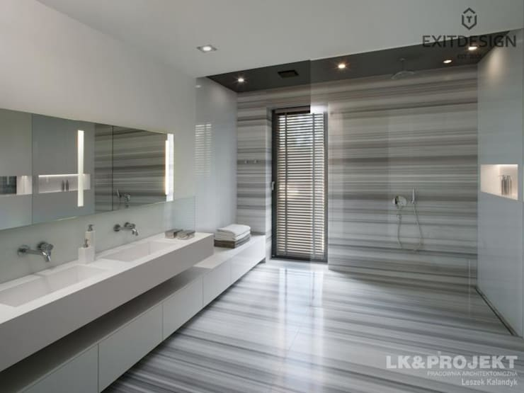 Bathroom by LK & Projekt Sp. z o.o.