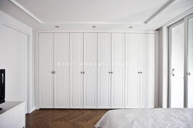 가오동 은어송 1단지 109 m2: 도노 디자인 스튜디오의  침실