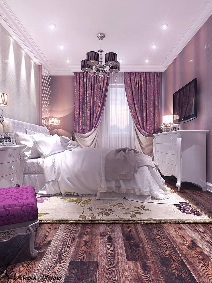 Проект спальни с гардеробной в частном коттедже: Спальни в . Автор – Your royal design, Классический
