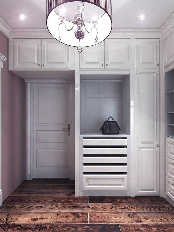 Проект спальни с гардеробной в частном коттедже: Гардеробные в . Автор – Your royal design, Классический