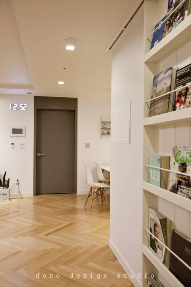 세종시 가락마을 84 m2 : 도노 디자인 스튜디오의  서재 & 사무실
