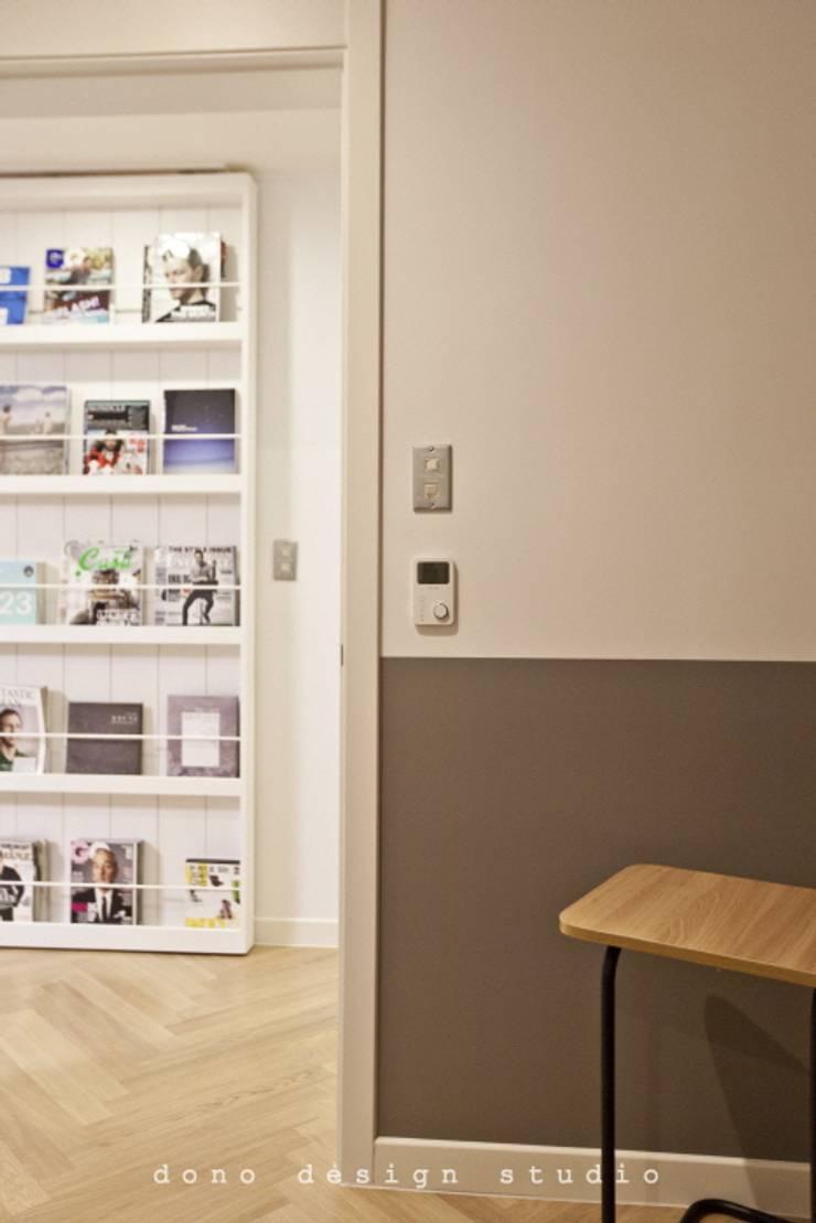 세종시 가락마을 84 m2 : 도노 디자인 스튜디오의  복도 & 현관