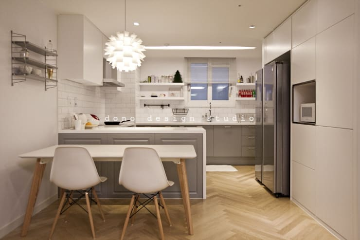 세종시 가락마을 84 m2 : 도노 디자인 스튜디오의  다이닝 룸