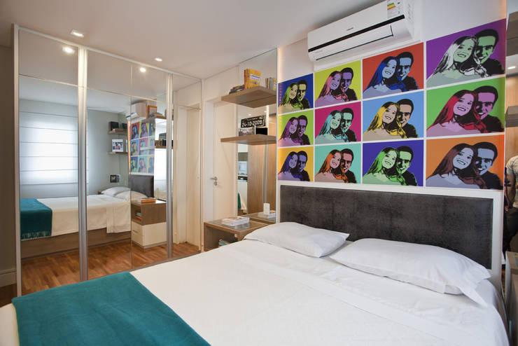 Apartamento Butantã: Quartos  por Samy & Ricky Arquitetura