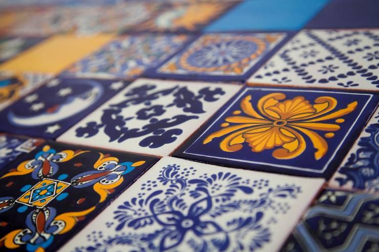 Meksykańskie płytki ręcznie malowane - wielokolorowe: styl , w kategorii  zaprojektowany przez Kolory Meksyku,Egzotyczny Ceramika