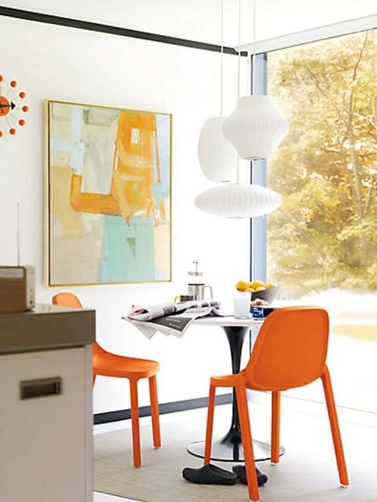 Nelson Bubble Lamps  : Comedor de estilo  por Design Within Reach Mexico