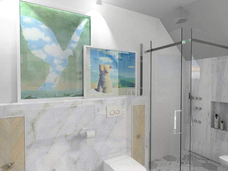 łazienka metafizyczna: styl , w kategorii  zaprojektowany przez GocaDesign