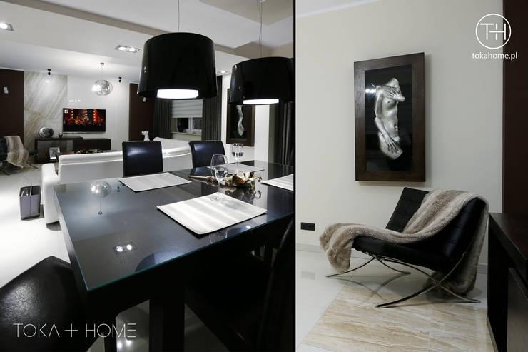 Powiew Wenecji: styl , w kategorii Salon zaprojektowany przez TOKA + HOME