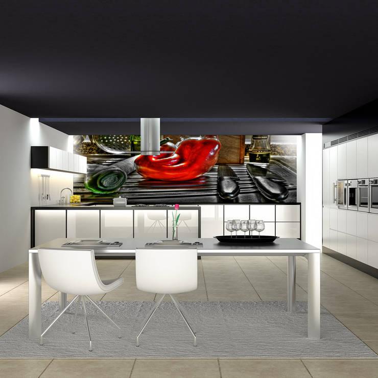 Papel de Parede para Cozinha: Parede e piso  por CreativeArq