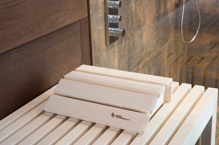 Wohnlich und luxuriös: private Sauna | Designsauna mit Glasfront:  Spa von corso sauna manufaktur gmbh