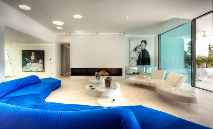 modern Living room by MG&AG.ARQUITECTOS
