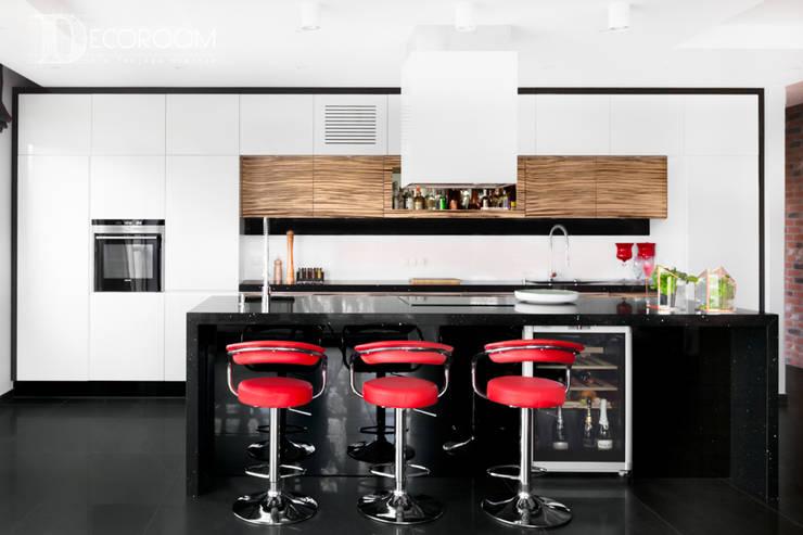 męskie mieszkanie: styl , w kategorii Kuchnia zaprojektowany przez Decoroom,Nowoczesny