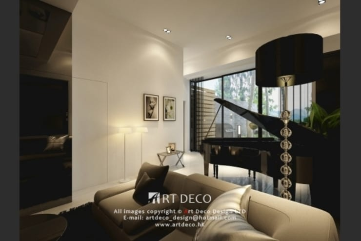 Art Deco Design Ltd.— Casa Marina:  Living room by Art Deco Design Ltd.