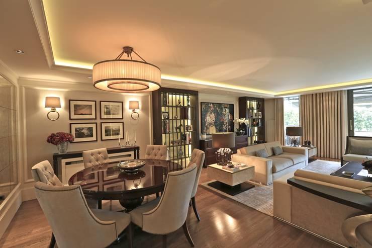 Kerim Çarmıklı İç Mimarlık – K.T.K Evi İstinye: modern tarz Oturma Odası