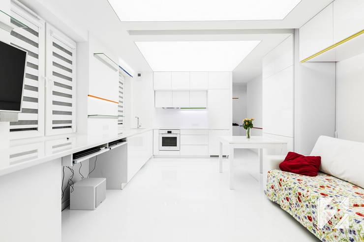 Nowoczesne meble na wymiar do mieszkania: styl , w kategorii Salon zaprojektowany przez 3TOP