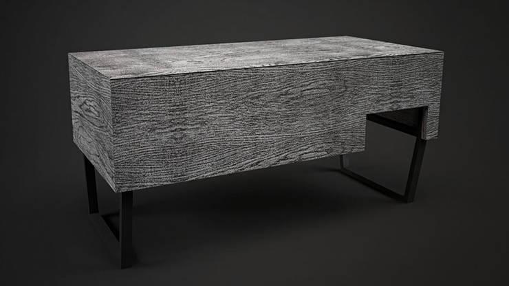 Biurko RAW 1: styl , w kategorii Domowe biuro i gabinet zaprojektowany przez Delicious Concept,