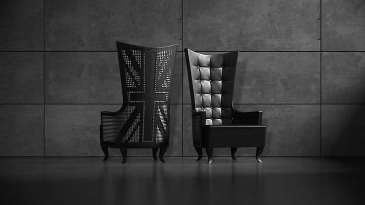 PUNK: styl , w kategorii Salon zaprojektowany przez Delicious Concept