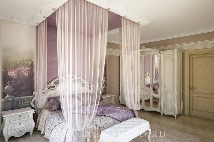 Проект коттеджа город Санкт-Петербург: Спальни в . Автор – Дизайн Студия Леоновой Натали