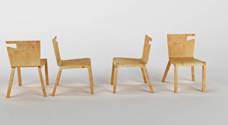 Krzesło PLAYWOOD: styl , w kategorii  zaprojektowany przez Delicious Concept,Nowoczesny
