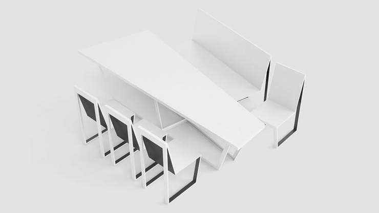 Stół z krzesłami: styl , w kategorii Jadalnia zaprojektowany przez Delicious Concept