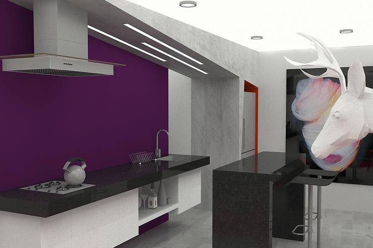 APARTAMENTO SISQUEM: Cocinas de estilo  por santiago dussan architecture & Interior design
