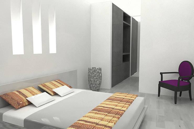 APARTAMENTO SISQUEM: Habitaciones de estilo  por santiago dussan architecture & Interior design