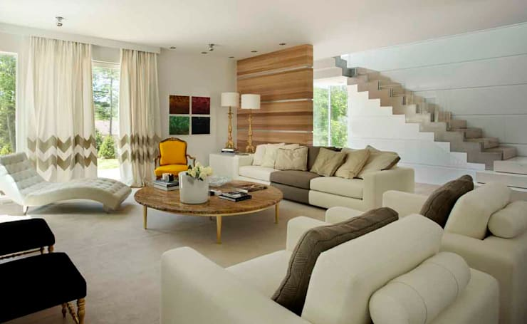 Living room by SA&V - SAARANHA&VASCONCELOS