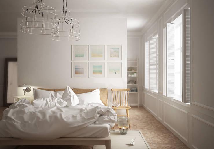 Scandinavian bedroom: Camera da letto in stile  di Eloisa Conti Visual