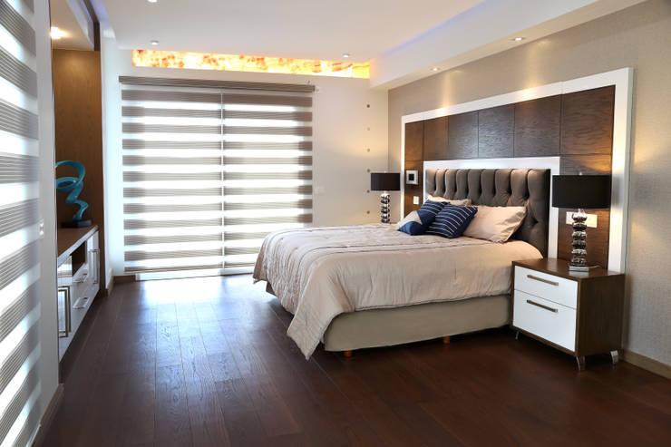 arketipo-taller de arquitectura: modern tarz Yatak Odası