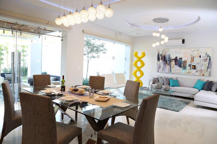 arketipo-taller de arquitectura: modern tarz Oturma Odası