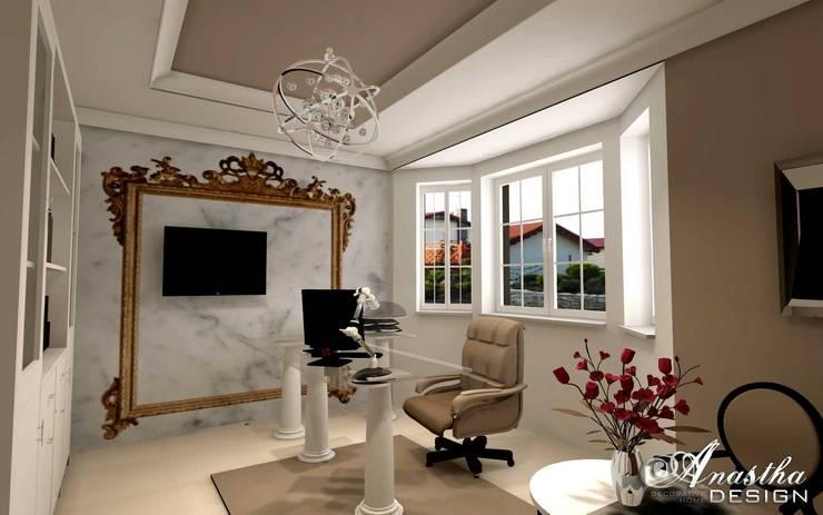 Gabinet dla Kobiety w domu jednorodzinnym: styl , w kategorii  zaprojektowany przez Anastha DESIGN