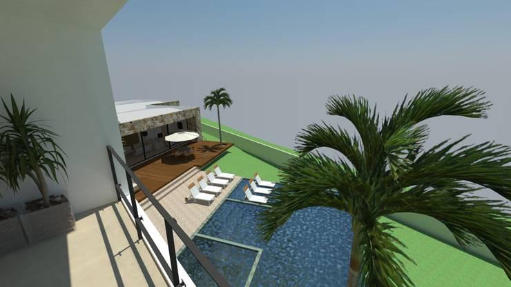 casa pp: Terraços  por grupo pr | arquitetura e design