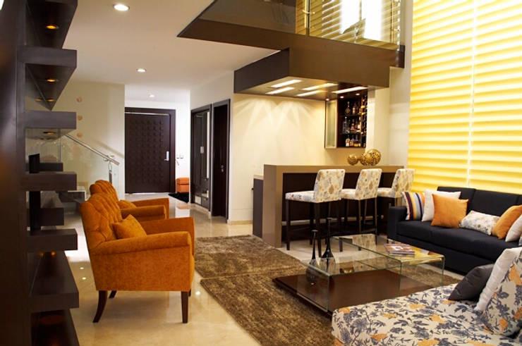 estancia: Salas de estilo  por arketipo-taller de arquitectura