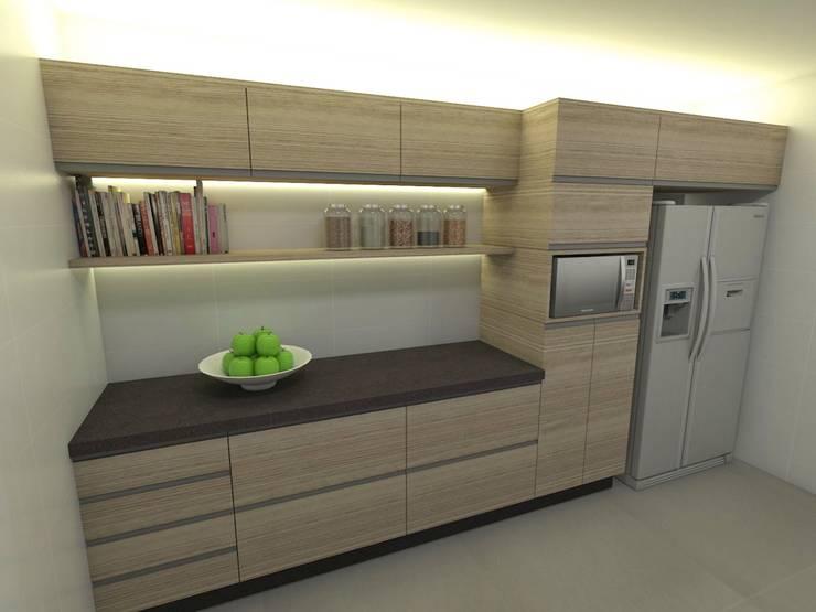 Casa - Vicente Pires/DF: Cozinhas  por Arquitetura do Brasil,