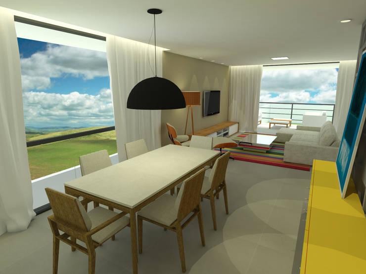 Casa - Vicente Pires/DF: Salas de jantar  por Arquitetura do Brasil,