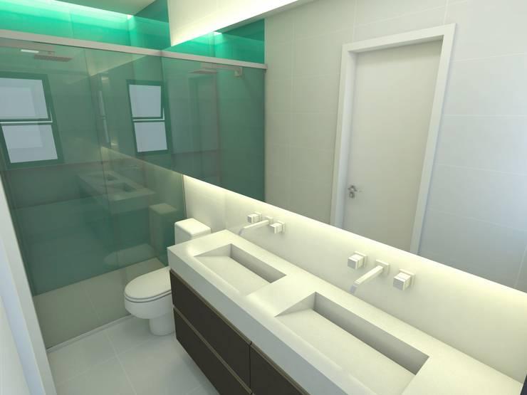 Casa - Vicente Pires/DF: Banheiros  por Arquitetura do Brasil