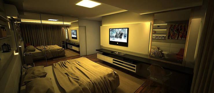 Apartamento Sky - Loteamento Aquarius - Salvador/BA: Quartos  por Arquitetura do Brasil
