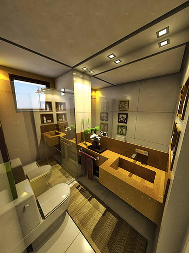 Apartamento Sky - Loteamento Aquarius - Salvador/BA: Banheiros  por Arquitetura do Brasil