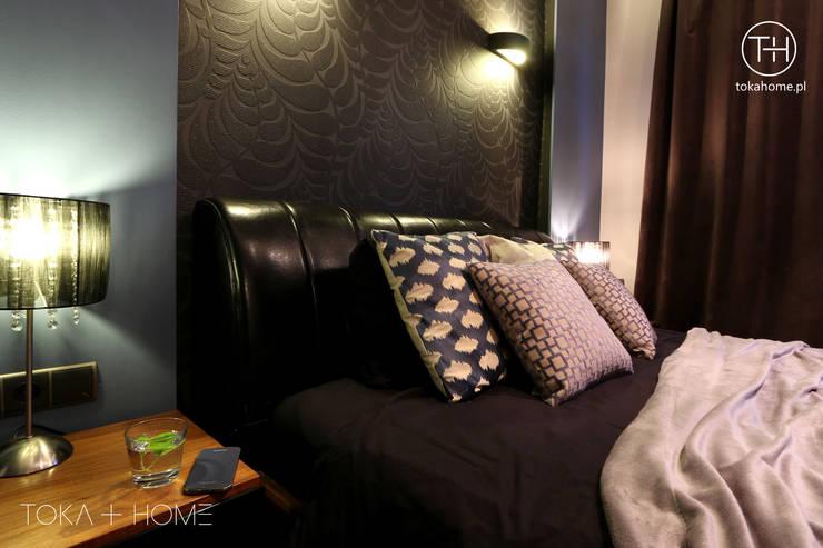 USZYTE NA MIARĘ: styl , w kategorii Sypialnia zaprojektowany przez TOKA + HOME