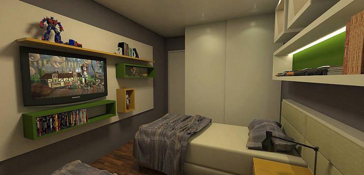 Apartamento Sky - Loteamento Aquarius - Salvador/BA: Quarto infantil  por Arquitetura do Brasil