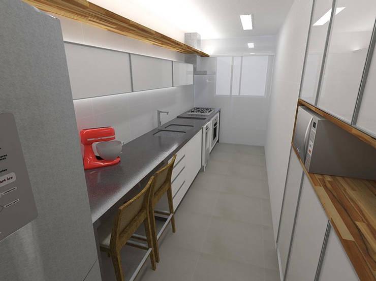 Apartamento - Ed. Now - Noroeste - Brasília/DF: Cozinhas modernas por Arquitetura do Brasil